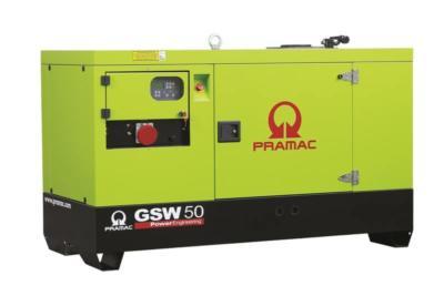 Elektrocentrála GSW 50 Y 3f na podvozku