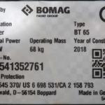 Vibrační pěch BOMAG BT65 - 4